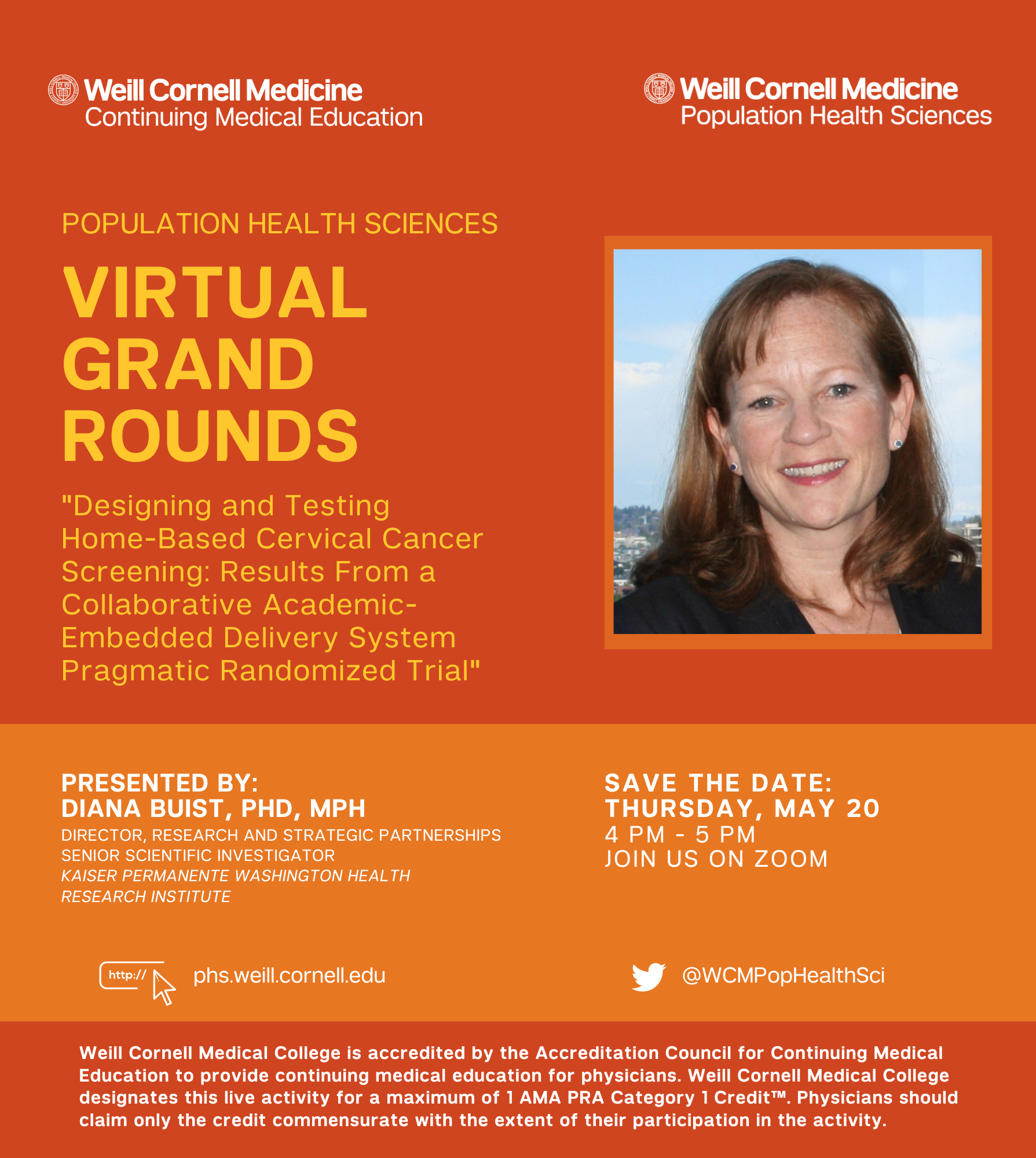 Diana Buist Grand Rounds Flyer
