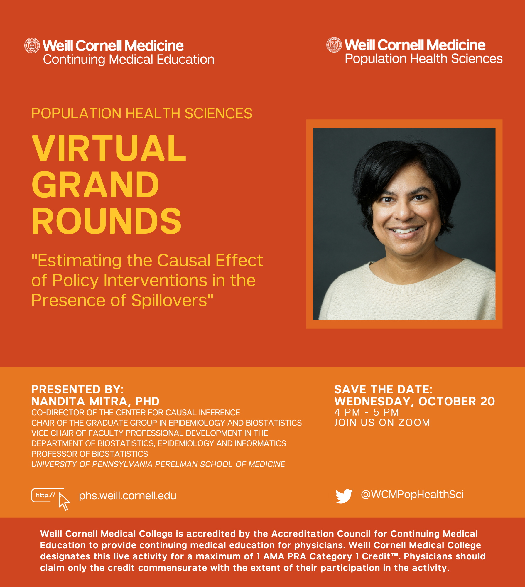October 2021 Grand Rounds Flyer