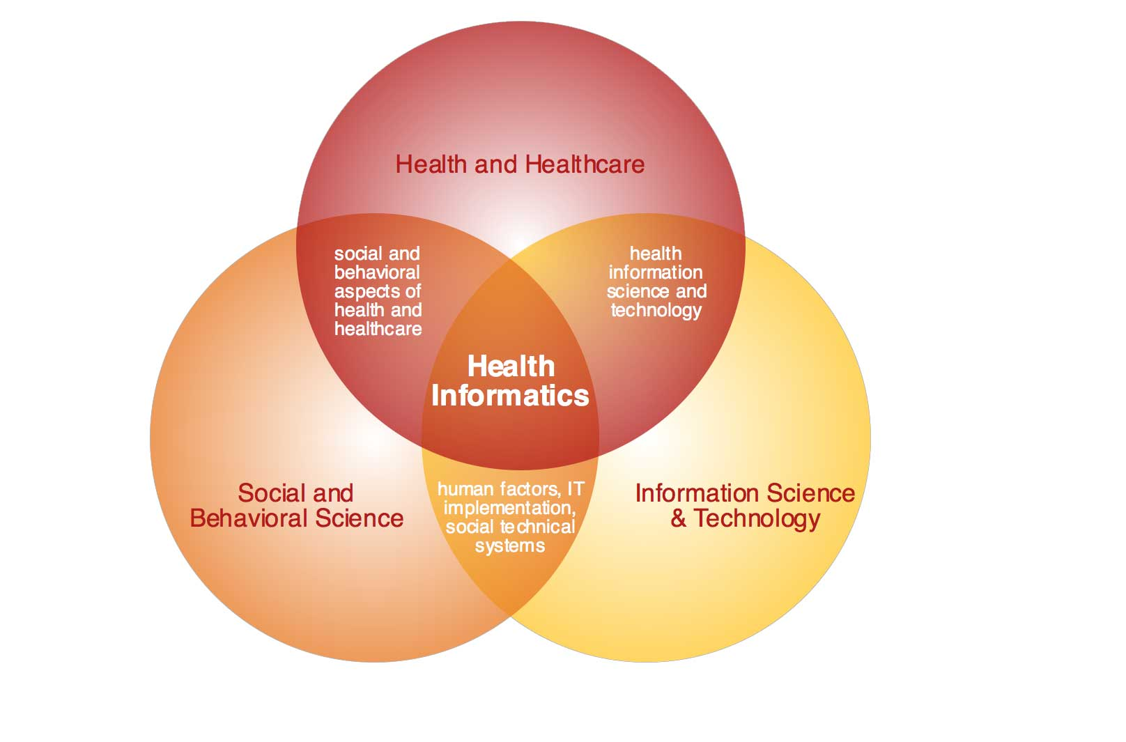 Health Informatics Venn Diagram