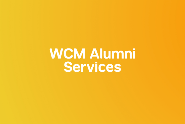 WCM alumni services block