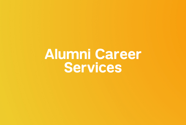 Alumni career services block