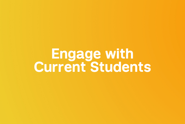 Engage with current students block
