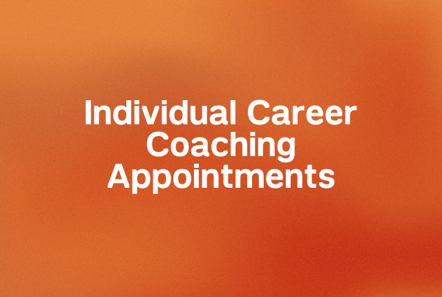 Individual career coaching appointments block
