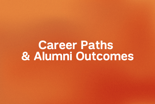 Career paths and alumni outcomes block