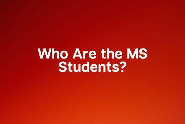 Who are the MS students block
