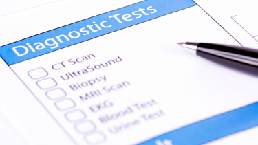 Photo showing a list of diagnostic tests