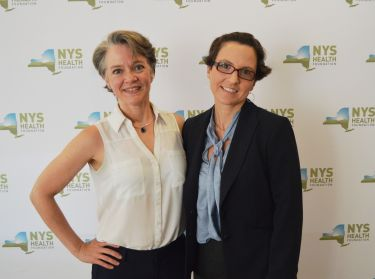 Photo of Dr. Ancker and Dr. Nosal