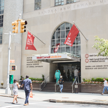 Photo of Weill Cornell Medicine entrance on York Avenue